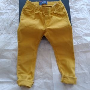 Old Navy Mustard Yellow Stretch Skinny Jeggings